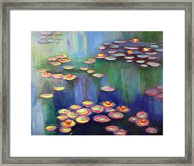 Monet's Lily Pads Framed Print