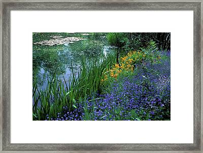 Monet's Lily Pond Framed Print by Kathy Yates