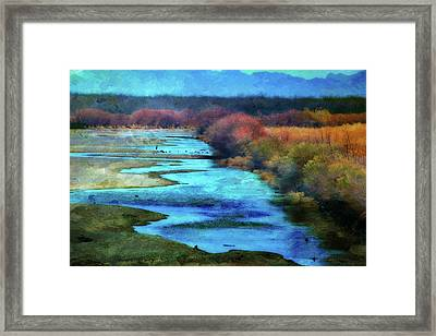 Monets Rio Las Cruces New Mexico Framed Print by Barbara Chichester