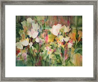 Monet's Tulips Framed Print