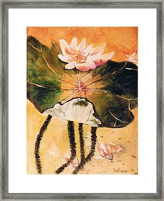 Monet's Water Lily Framed Print by Seth Weaver
