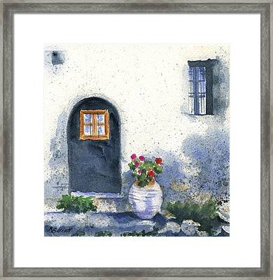 Monevasia Doorway Framed Print by Marsha Elliott