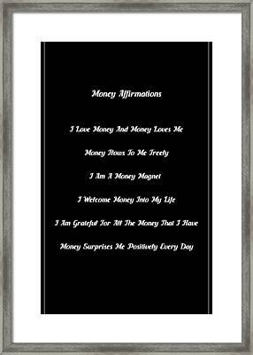 6 Powerful Money Affirmations Framed Print by Affirmation Today
