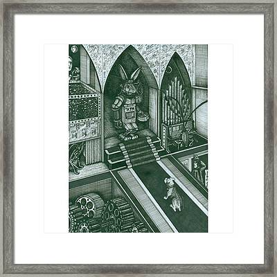 Money Bunny  #electrickoolaidart Framed Print