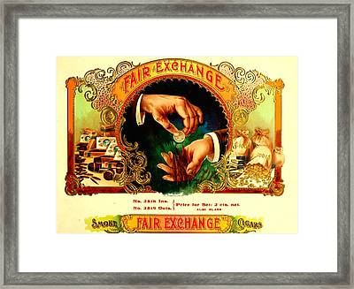 Money Cigar Label Framed Print