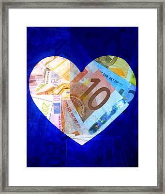 Money Collage I Framed Print