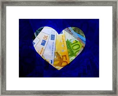 Money Collage II Framed Print