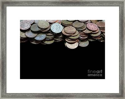 Money Games Framed Print by Jasna Buncic