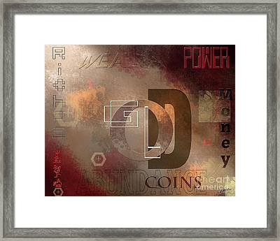 Money Gold Abundance Framed Print by Lance Sheridan-Peel