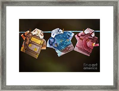 Money Laundering Framed Print by Catherine MacBride