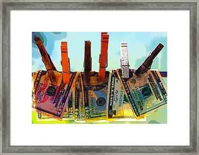 Money Laundering  Framed Print
