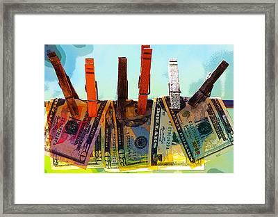 Money Laundering  Framed Print