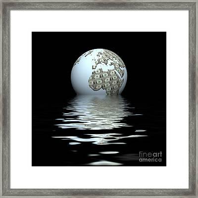 Money Makes The World Go Round Framed Print
