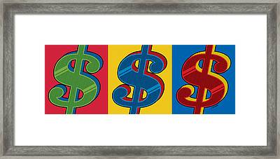 Framed Print featuring the digital art Money Money Money by Ron Magnes