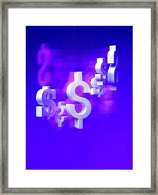 Money Problems Framed Print by Steven Huszar