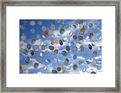 Money Shower Framed Print by Victor De Schwanberg