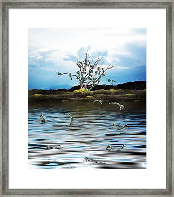 Money Tree On A Windy Day Framed Print by Gravityx9   Designs