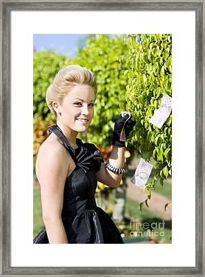 Money Tree Woman Framed Print