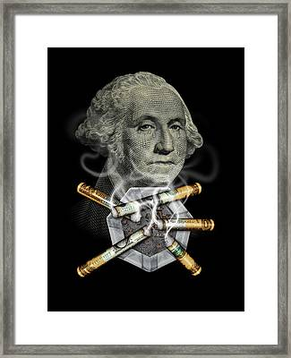 Money Up In Smoke Framed Print