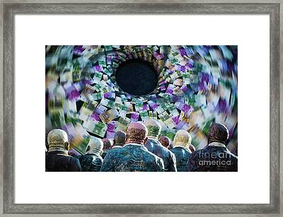 Money Vortex Framed Print by Alessandro Giorgi Art Photography