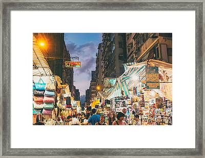Mongkok Of Hong Kong Framed Print by Tuimages