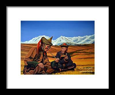 Lama Framed Prints