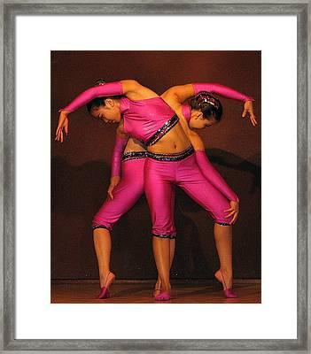 Mongolian Women Dancers Framed Print