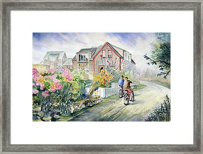 Monhegan Avenue  Framed Print by Melly Terpening