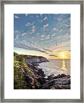 Monhegan East Shore Framed Print