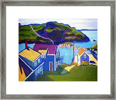 Monhegan Harbor Framed Print by Debra Bretton Robinson