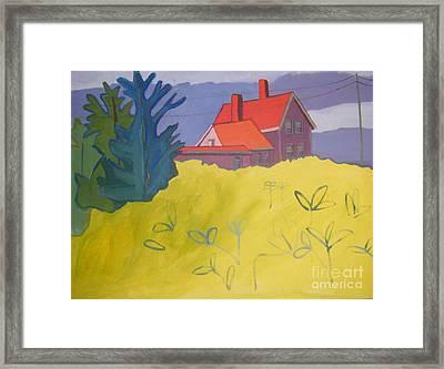 Monhegan Light Framed Print by Debra Bretton Robinson