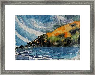 Monhegan Sky Framed Print by Patricia Bigelow