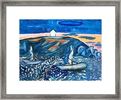 Monhegan Sunset Framed Print by Patricia Bigelow
