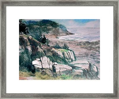 Monhegan Trail Framed Print by Don Getz