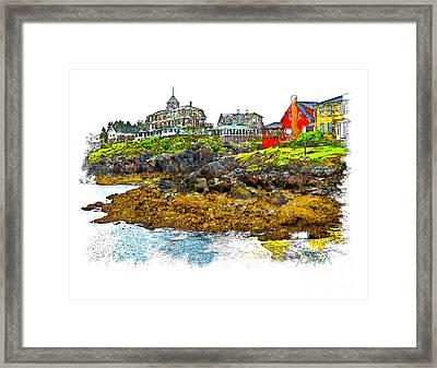 Monhegan West Shore Framed Print