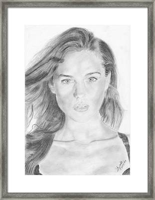 Monica Belluci Young Framed Print by Annie GODET