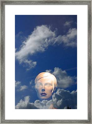 Monica In The Clouds 2 Framed Print by Jez C Self