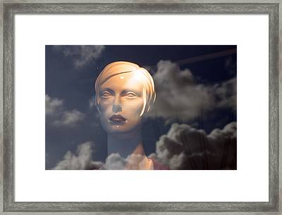 Monica In The Clouds Framed Print by Jez C Self
