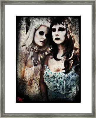 Monique And Ryli 1 Framed Print by Mark Baranowski