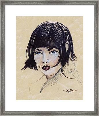 Monique Framed Print by John Keaton