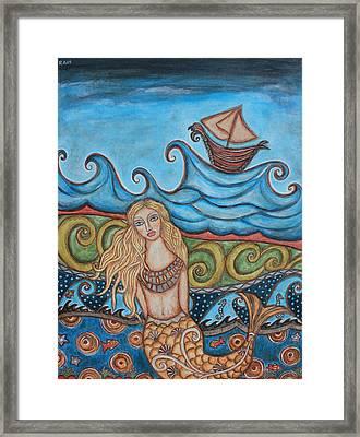 Monique Mermaid Framed Print by Rain Ririn