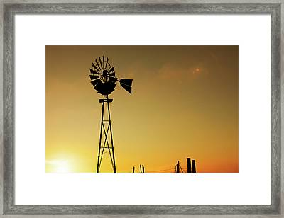 Monitor Silhouette Framed Print by Todd Klassy