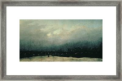 Monk By Sea Framed Print by Caspar David Friedrich