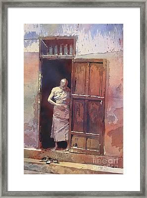 Monk Emerging Framed Print by Ryan Fox