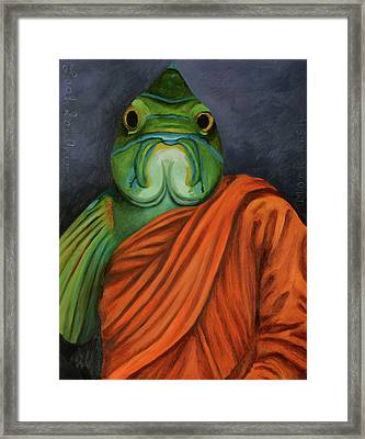 Monk Fish Framed Print by Leah Saulnier The Painting Maniac
