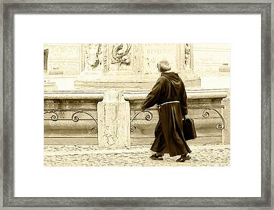 Framed Print featuring the photograph Monk by John Hix