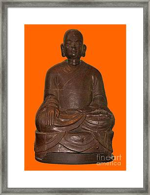 Monk Seated Framed Print