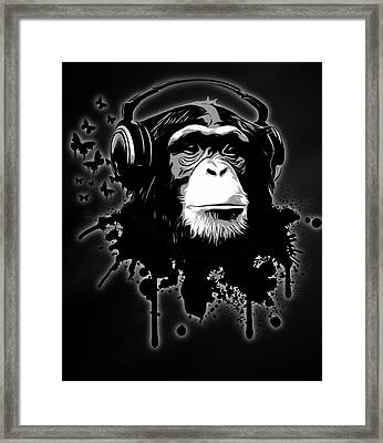 Monkey Business - Black Framed Print by Nicklas Gustafsson