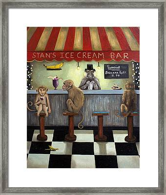 Monkey Business Framed Print by Leah Saulnier The Painting Maniac