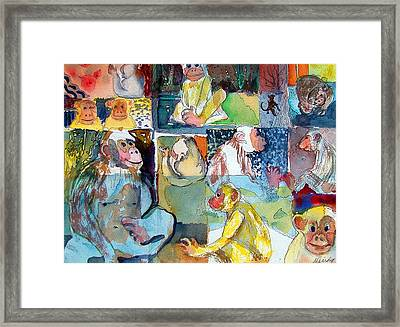 Monkey Business Framed Print by Mindy Newman